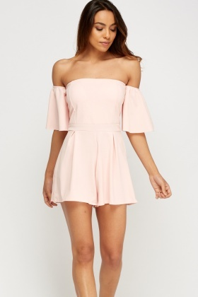 Flare Sleeve Off Shoulder Playsuit
