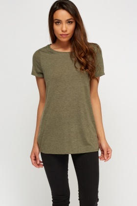 Khaki Basic T-Shirt