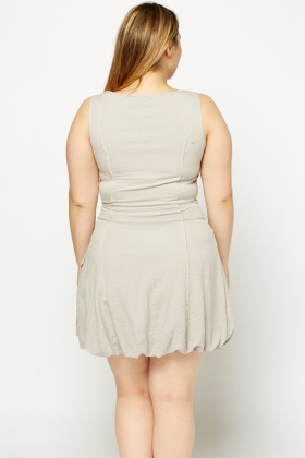 Light Grey Zip Front Dress