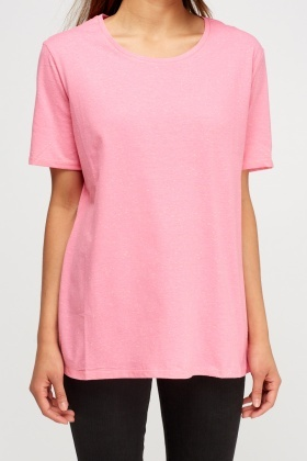 Pink Speckled Top
