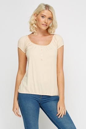 Button Detailed Casual Top