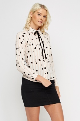 Heart Printed Blouse