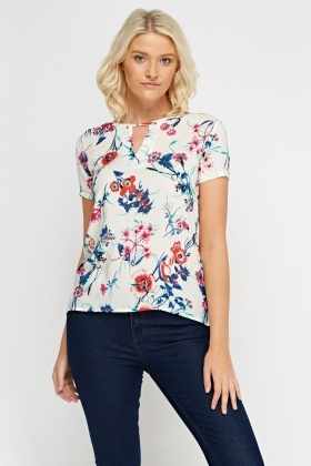 Overlay Printed Detailed Top