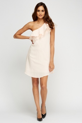 One Shoulder Ruffled Dress