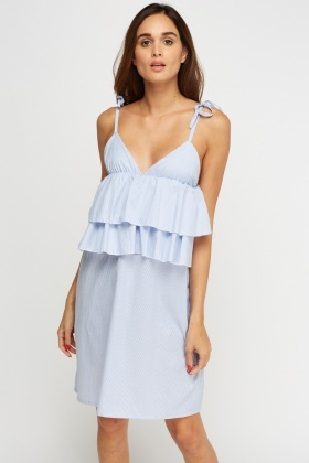Frilled Sweetheart Midi Dress