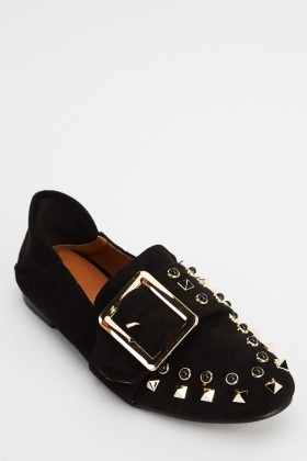 Sergio Todzi Buckle Front Studded Shoes