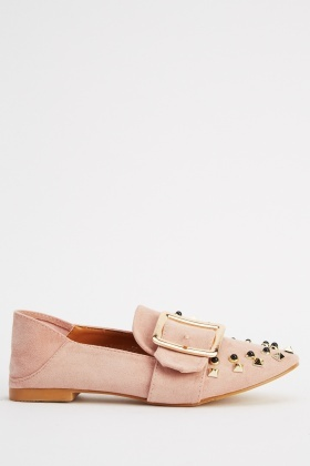 Buckle Front Studded Shoes