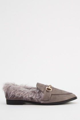Sergio Todzi Faux Fur Trim Shoes