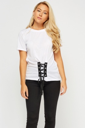 Tie Up Corset Hem Top