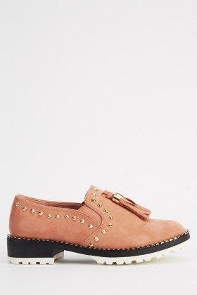 Detailed Suedette Shoes