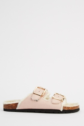 Ideal Twin Buckle Slip On Sandals