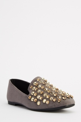 Sergio Todzi Embellished Suedette Shoes