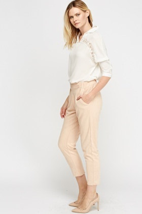 Velveteen Elasticated Trousers