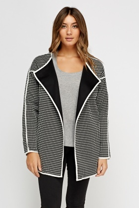 Open Front Textured Blazer