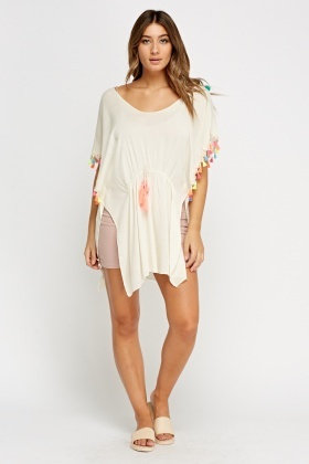 Pom Pom Embellished Cover Up