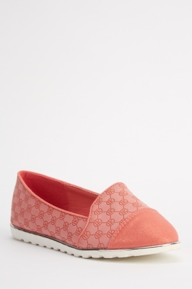 Embossed Contrast Shoes