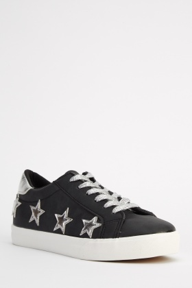 Metallic Star Low Top Trainers