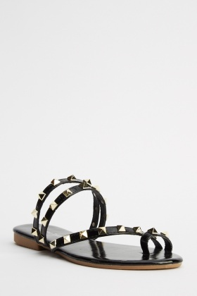 Studded Metallic Sandals