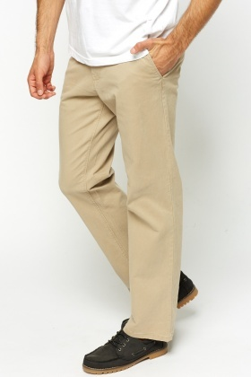 a241c30a8c6d88 Beige Chino Straight Leg Trousers - Just £5