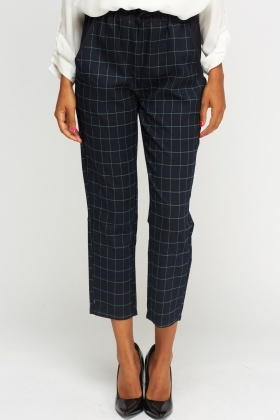 Checked Casual Trousers