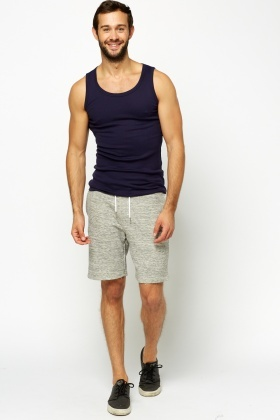 Grey Basic Jogger Shorts