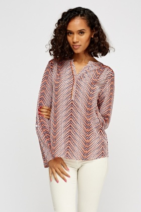 Printed Casual Blouse