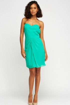 Sweetheart Bandeau Ruched Dress