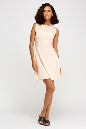 Textured Peach Dress