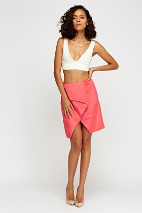 Wrap Flare Pencil Skirt