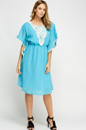 Crochet Insert Tunic Dress