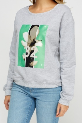 Graphic Print Jumper
