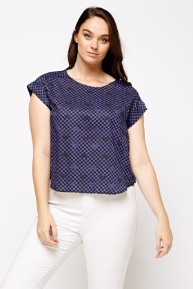 Checked Casual Cotton Top
