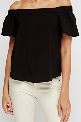 Off Shoulder Black Top