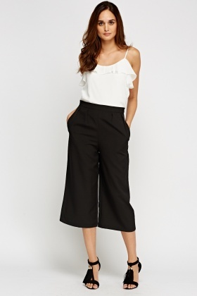 Pleated Front Culotte Trousers