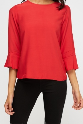 Red Flare Sleeve Box Top