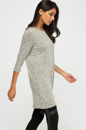 Speckled Long Knit Casual Top