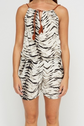 Animal Print Playsuit