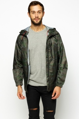 Camouflage Hooded Light Weight Jacket