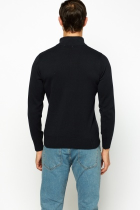 Charcoal Regular Fit Sweater
