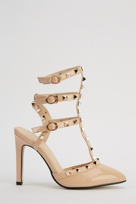 Lavie Studded Strappy Court Heels