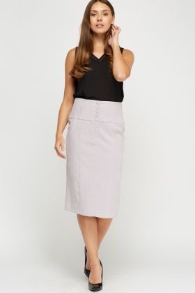 Pencil Formal Midi Skirt