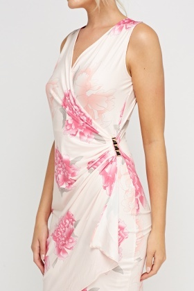 Silky Wrap Detailed Side Dress