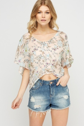 Batwing Floral Box Top