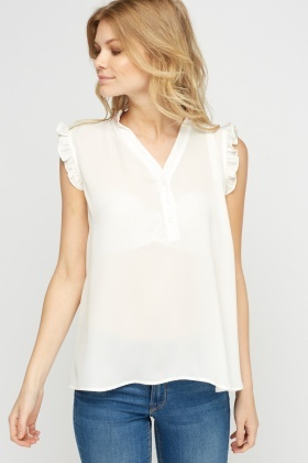Beaded Frilled Blouse