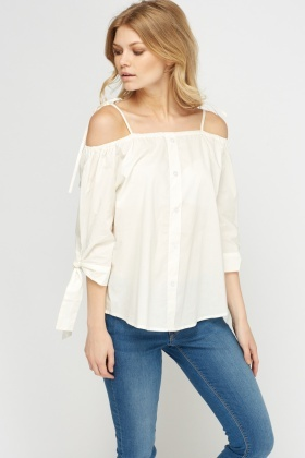Off Shoulder Elasticated Top