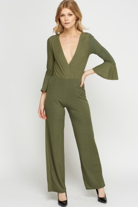 Wide Leg Pleated Jumpsuit