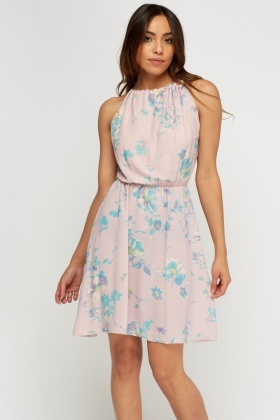 Floral Printed Lilac Dress