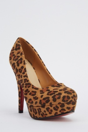 Animal Printed Platformed Heels