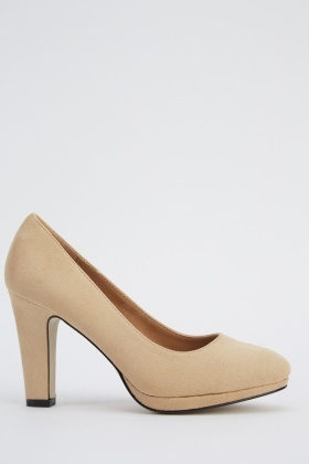 Mid Heel Suedette Shoes