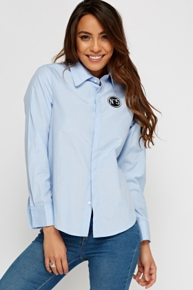 Badged Blue Shirt